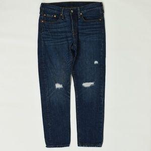 Levis Regular  Blue 29x28 501 Cotton Solid